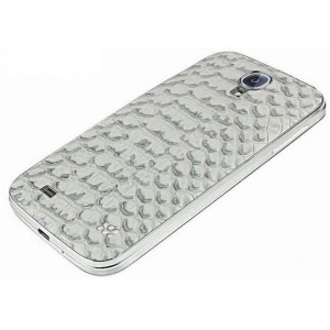 Promate  6959144004600  Charm.S4 Premium Patterned-Leather Back Cover-for Samsung Galaxy S4 -Grey