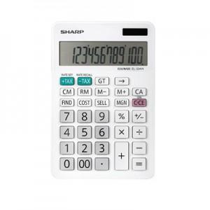 Sharp EL334  Mini Desk Calculator -White
