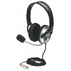 Manhattan  175555  Classic Stereo Headset + Microphone with in-line Volume Control