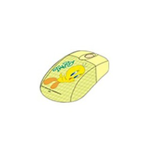 Tweety  W5803-1C-TW  Optical USB Mouse -Green/Yellow