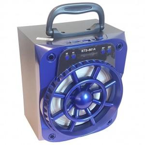 Microworld KTS861-BLUE Portable Speaker + Radio - Blue