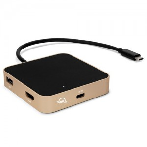 OWC OWCTCDK5PGD USB-C Travel Dock 2xUSB3.1|1xSD Card|1xHDMI - Gold