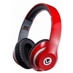 Volkano   VBVF401R   Falcon Series Red Headphones with Mic