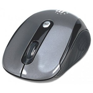 Manhattan  177795   Performance Wireless USB Optical Mouse-USB, Four Buttons with Scroll Wheel, 2000 dpi