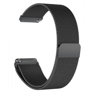 Fitbit Versa Magnetic Milanese Loop Watch Stainless Steel Band - Black
