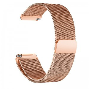 Fitbit Versa Magnetic Milanese Loop Watch Stainless Steel Band - Rose Gold