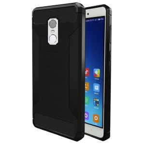 Tuff-Luv  I14_36  Xiaomi Redmi Note 4 Brushed Texture Carbon Fiber Anti-slip TPU Protective Cover Case