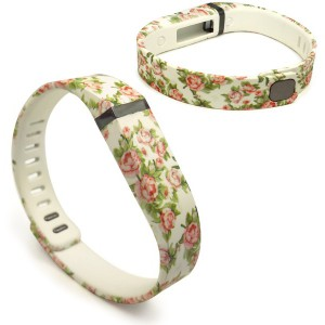 Tuff-Luv J7_27 Adjustable Strap / Wristband and Clasp for Fitbit Flex - Secret Garden Beige (Small)