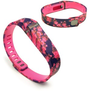 Tuff-Luv J7_25 Adjustable Strap / Wristband and Clasp for Fitbit Flex - Secret Garden Red(Small)