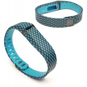 Tuff-Luv J7_29 Adjustable Strap / Wristband and Clasp for Fitbit Flex - Checker Turquoise (Large)