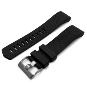 Tuff-Luv C9_65 Silicone Strap for Fitbit Charge 2 - Black
