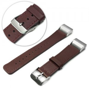 Tuff-Luv  C9_61  Fitbit Charge 2 Genuine Leather Watch Strap Wristband - Brown