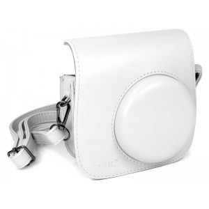 Tuff-Luv E10_95 Faux Leather Camera Case for Instax Mini 8-8s - White