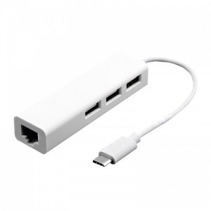 Tuff-Luv H10_74 Type-C USB 3.1 100 Mbps Ethernet Adaptor with 3-port USB 2.0 Hub