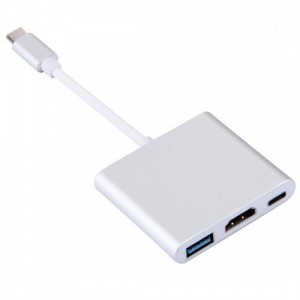 Tuff-Luv  H10_75  USB 3.1 Type-C Male to USB 3.1 Type-C Female and HDMI Female and USB 3.0 Female Adapter