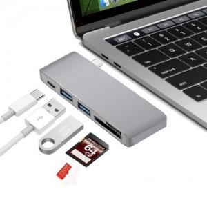 Tuff-Luv  I4_67  USB Type-C USB 3.0 3 in 1 Combo Hub - Dark Grey