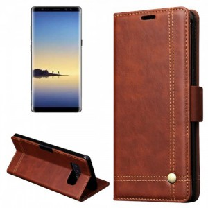 Tuff-Luv   E11_106  Faux Leather Book-Style Stand Case Cover for Samsung Galaxy Note 8 - Brown