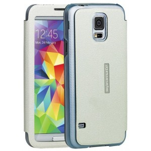 Promate  6959144009582   Lucent S5 Bookcover with T-Screen Window - White