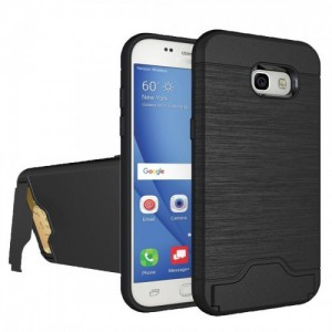Tuff-Luv  I1_88  Dual Armour Case Stand and Card Holder for Samsung Galaxy A5 2017 - Black