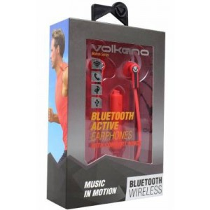 Volkano  VK1005RDBK  Motion Red & Black Bluetooth Earphones
