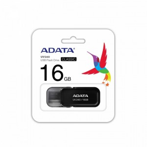 Adata  AUV240-16G-RBK 16GB USB 2.0 Flash Drive -Black