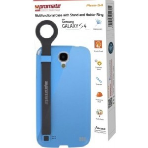 Promate 6959144001821 Pless-S4 Multifunctional Case with a Stand and a Holder Ring for Samsung Galaxy S4-Blue