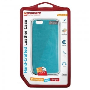 Promate  6959144013732  Lanko-i6 Leather Flexible Snap-on Case - Blue