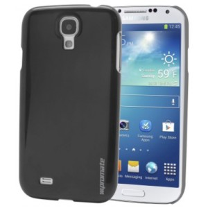 Promate  7161815697182  Figaro-S4 Shiny Custom-Fit Shell Case for Samsung Galaxy S4 - Black