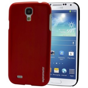 Promate 6959144001494   Figaro-S4 Shiny Custom-Fit Shell Case for Samsung Galaxy S4 - Red