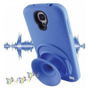 Promate  6959144005034  Orator-S4 Sound Amplifier Case for Samsung Galaxy S4 with Headphone Cable Management -Blue