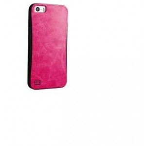 Promate 6959144004846 Lanko.i5 iPhone 5 Hand-Crafted Leather Case-Pink