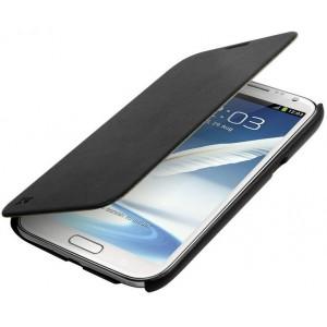 Promate 1161815111455 Aknol-Premium Leather Flip Case for Samsung Galaxy Note 2-Black