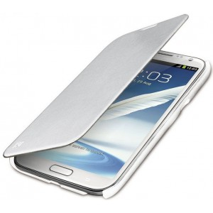 Promate 2161815111454 Aknol-Premium Leather Flip Case for Samsung Galaxy Note 2-White