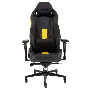 Corsair CF-9010010 T2 Road Warrior Gaming Chair — Black/Yellow