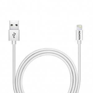 ADATA LIGHTNING TO USB CABLE 100CM PLASTIC - WHITE