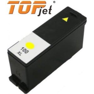 Topjet TJ-100Y Generic Replacement Ink Cartridge for Lexmark 100XL LE14N1071BP -  High Yield Yellow