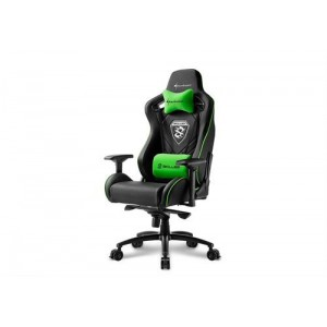 Sharkoon 4044951021734 Skiller SGS4 Gaming Seat Black and Green