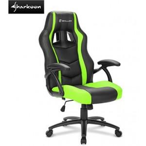 Sharkoon 4044951021017 Skiller SGS1 Gaming Seat Black/Green, Steel Five-Star Base, Foam Polyurethane