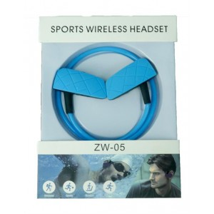 Geeko ZW-05-BLU Sporty Wireless Bluetooth Earphones , BT4.2 , Rechargeable Polymer Lithium-on Battery- Blue