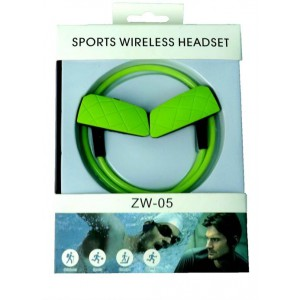Geeko ZW-05-GRN Sporty Wireless Bluetooth Earphones , BT4.2 , Rechargeable Polymer Lithium-on Battery- Green