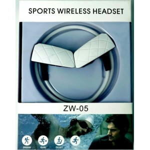 Geeko ZW-05-WHT Sporty Wireless Bluetooth Earphones , BT4.2 , Rechargeable Polymer Lithium-on Battery - White