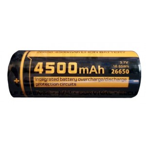 Fitorch 26650 4500mAh Rechargeable Li-Ion Battery