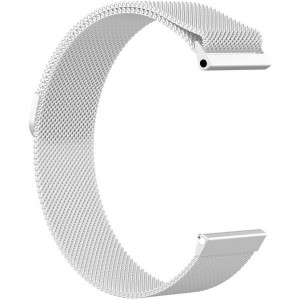 Fitbit Versa Magnetic Milanese Loop Stainless Steel Watch Band - Silver