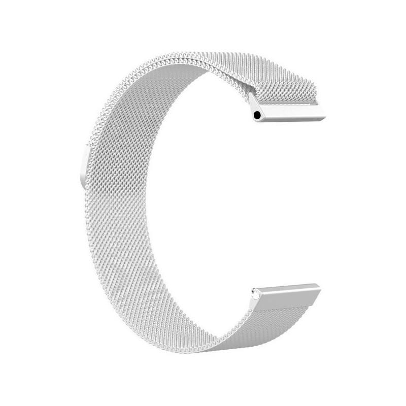Fitbit Versa Magnetic Milanese Loop Stainless Steel Watch Band - Silver