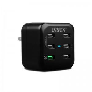 LVSUN 6-P USB 34W 5V 6.8A QC2.0 CHARGER (LS-6USQ)