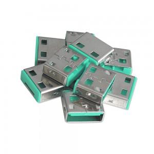 LINDY USB PORT BLOCK-10X,-NO KEY GREEN (40461)