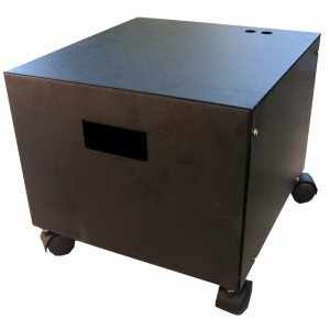 12V Steel Battery Cabinet with Wheels - Dual Battery