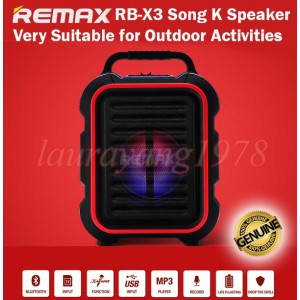 REMAX SONG K BT SPEAKER WITH MIC BLK+RED (RB-X3)