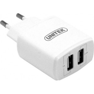 UNITEK 17W 2-PORT USB SMART WALL CHARGER-(Y-P547A)