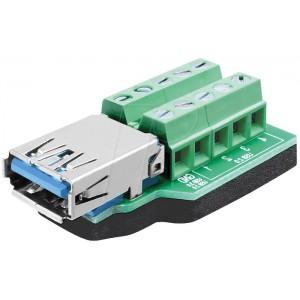 DELOCK USB3.0 AF TERMINAL BLOCK (65370)